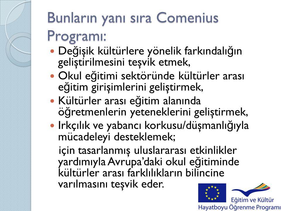 Bunların yanı sıra Comenius Programı: