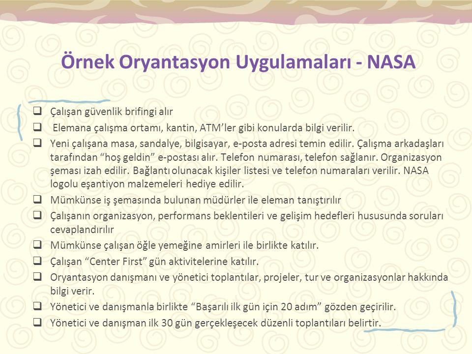 Örnek Oryantasyon Uygulamaları - NASA