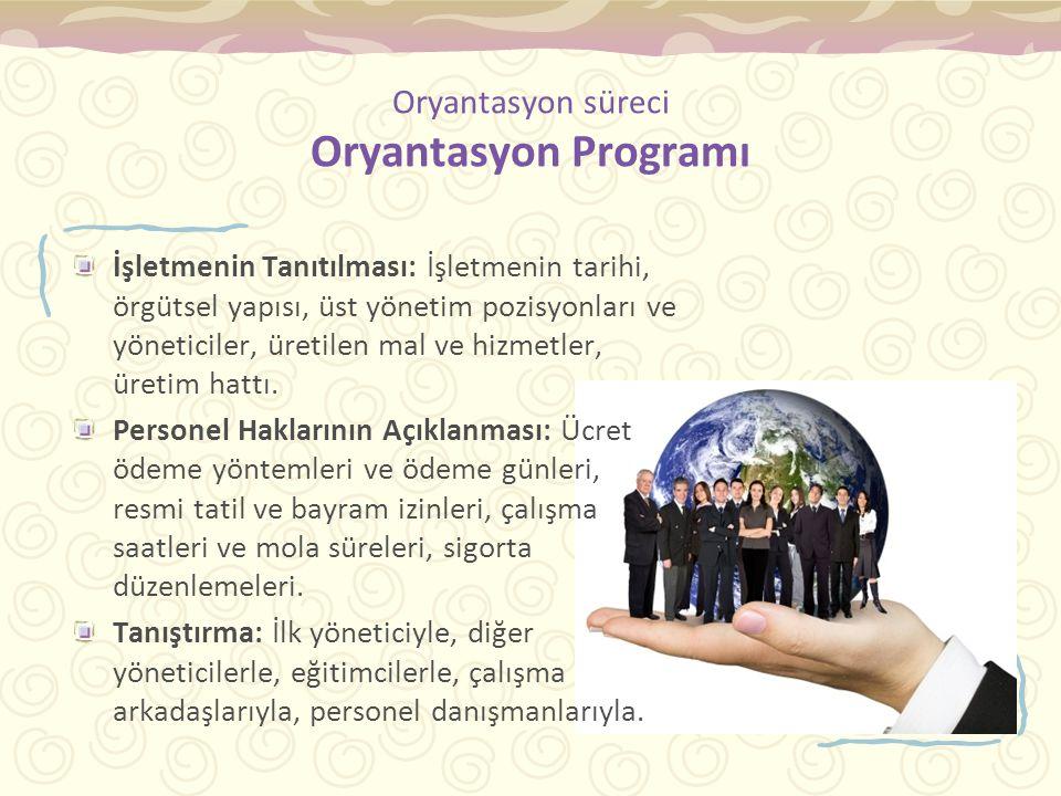 Oryantasyon süreci Oryantasyon Programı