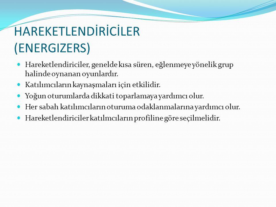 HAREKETLENDİRİCİLER (ENERGIZERS)