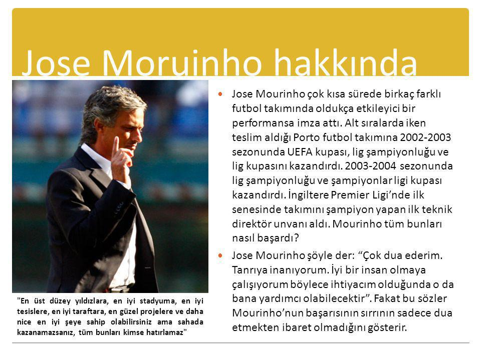 Jose Moruinho hakkında