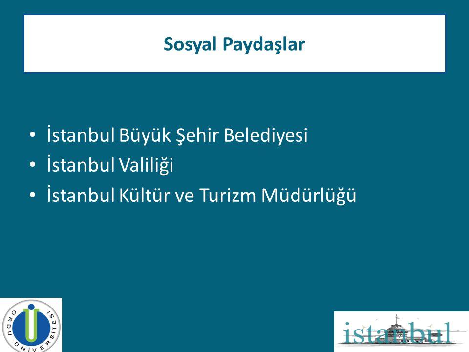 Sosyal Paydaşlar İstanbul Büyük Şehir Belediyesi. İstanbul Valiliği.