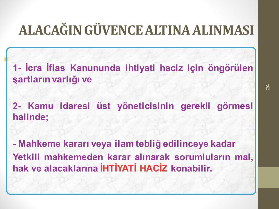 ALACAĞIN GÜVENCE ALTINA ALINMASI