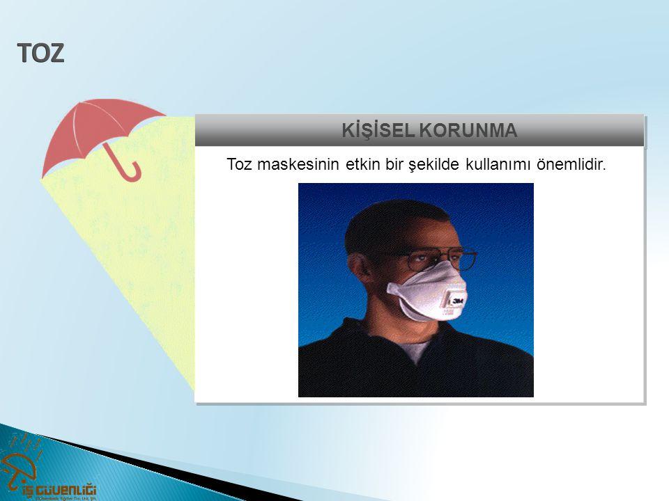 Toz maskesinin etkin bir şekilde kullanımı önemlidir.