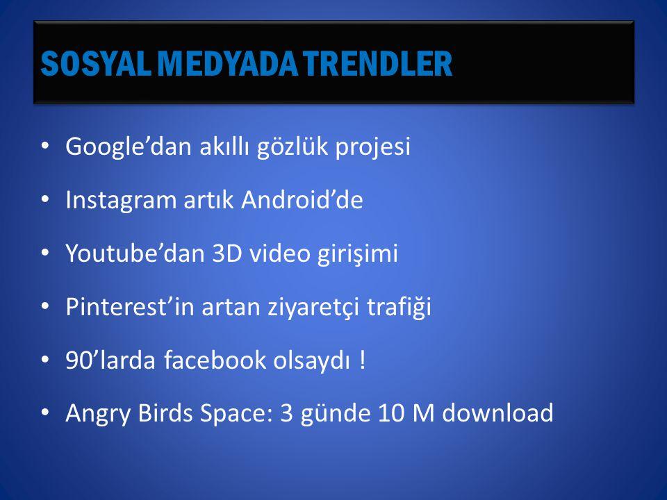 SOSYAL MEDYADA TRENDLER