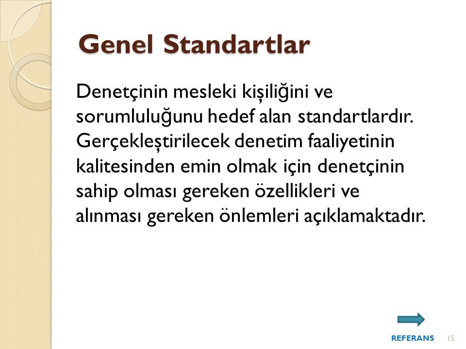 Genel Standartlar