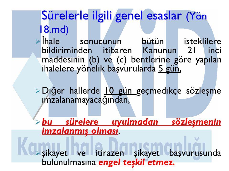 Sürelerle ilgili genel esaslar (Yön 18.md)