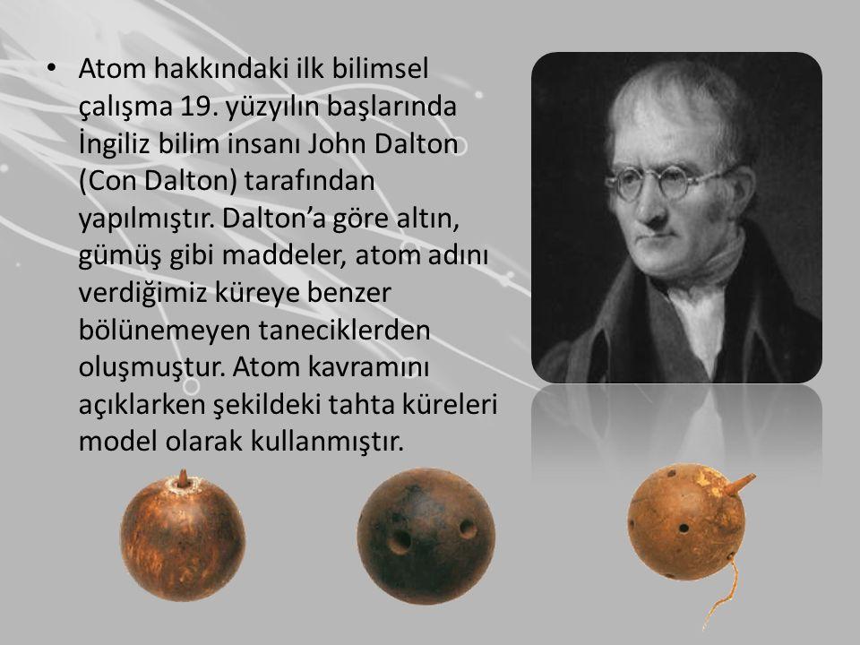 Atom hakkındaki ilk bilimsel çalışma 19