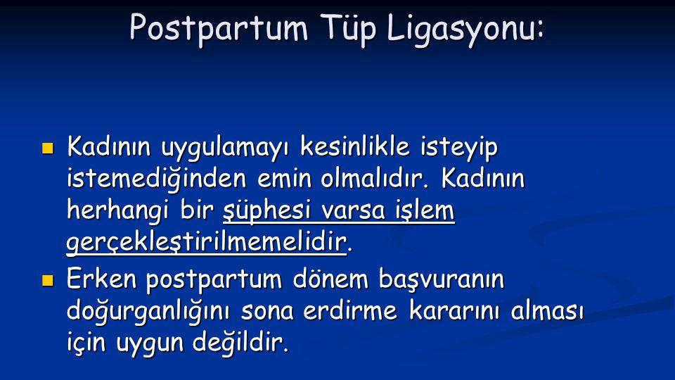 Postpartum Tüp Ligasyonu: