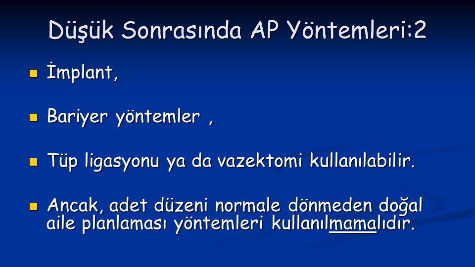 Düşük Sonrasında AP Yöntemleri:2