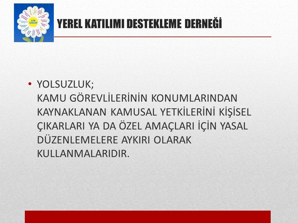 YEREL KATILIMI DESTEKLEME DERNEĞİ