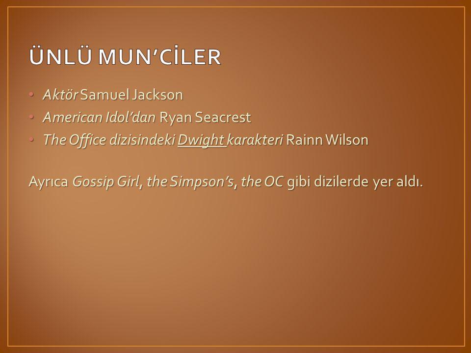 ÜNLÜ MUN'CİLER Aktör Samuel Jackson American Idol'dan Ryan Seacrest