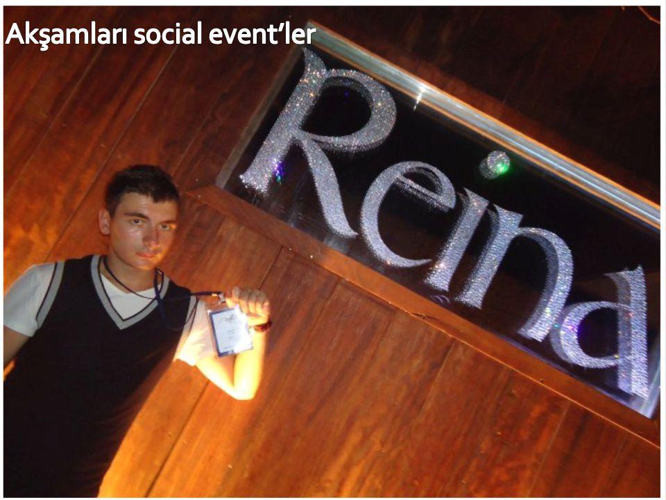 Akşamları social event'ler