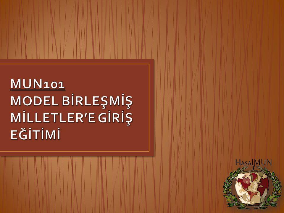 MUN101 MODEL BİRLEŞMİŞ MİLLETLER'E GİRİŞ EĞİTİMİ