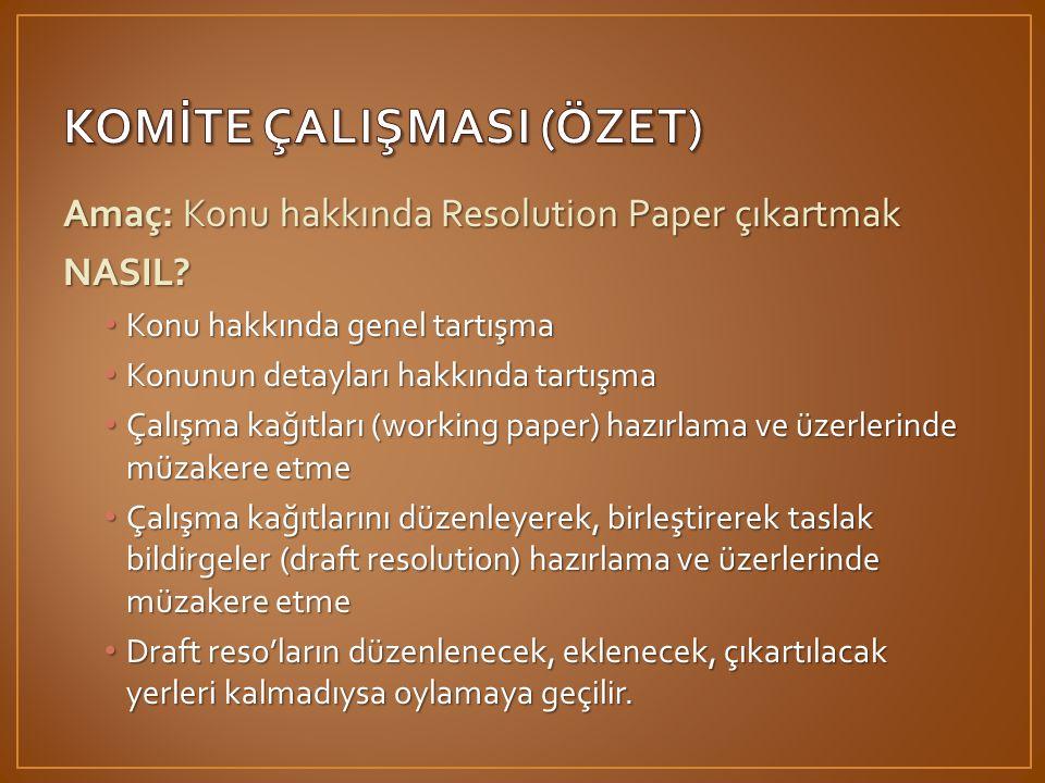 KOMİTE ÇALIŞMASI (ÖZET)