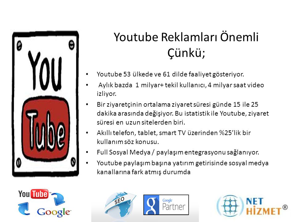 Youtube Reklamları Önemli Çünkü;