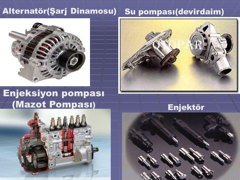 Enjeksiyon pompası (Mazot Pompası) Alternatör(Şarj Dinamosu)