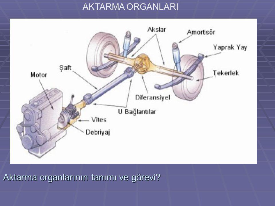 Aktarma organlarının tanımı ve görevi