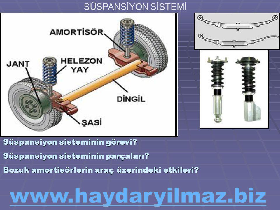 www.haydaryilmaz.biz SÜSPANSİYON SİSTEMİ