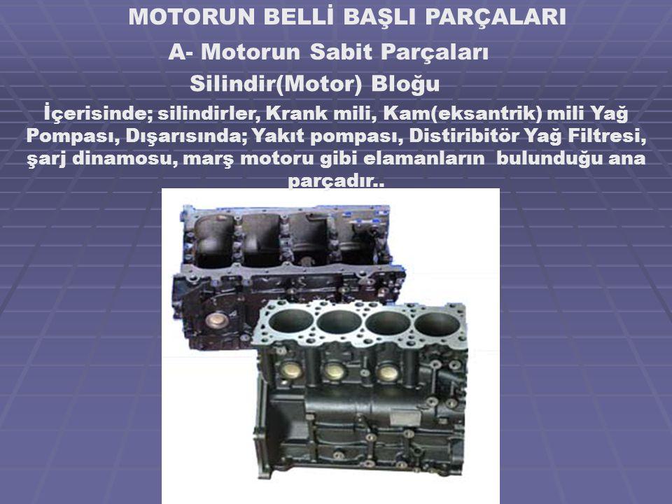 MOTORUN BELLİ BAŞLI PARÇALARI