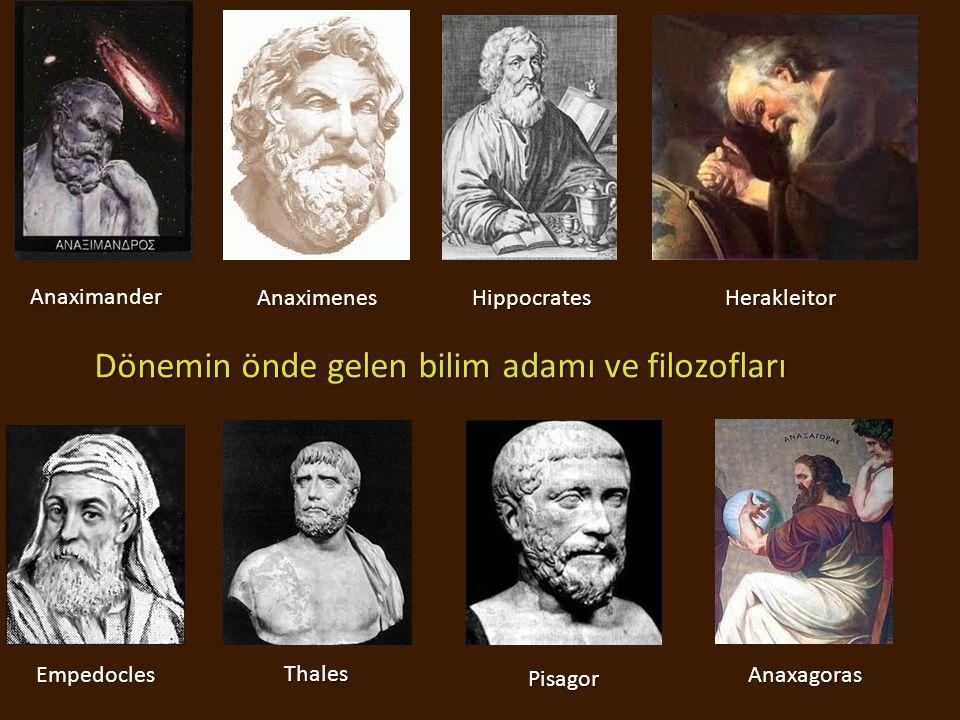 Dönemin önde gelen bilim adamı ve filozofları