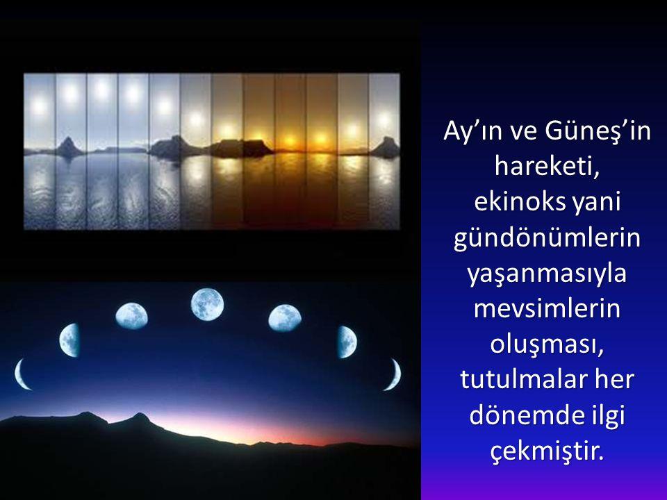 Ay'ın ve Güneş'in hareketi,