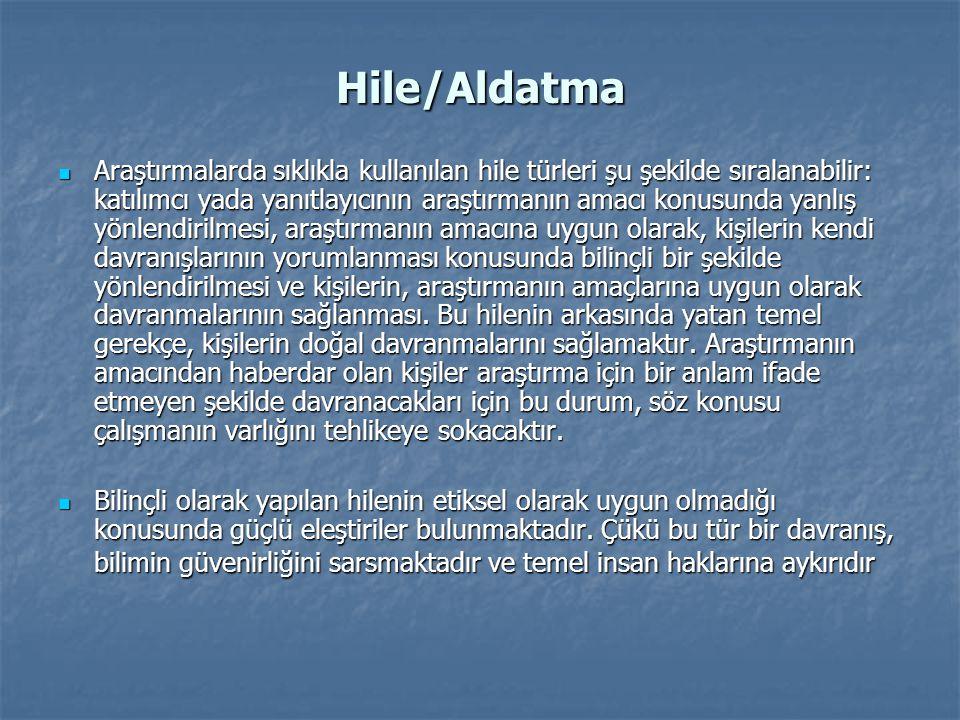 Hile/Aldatma
