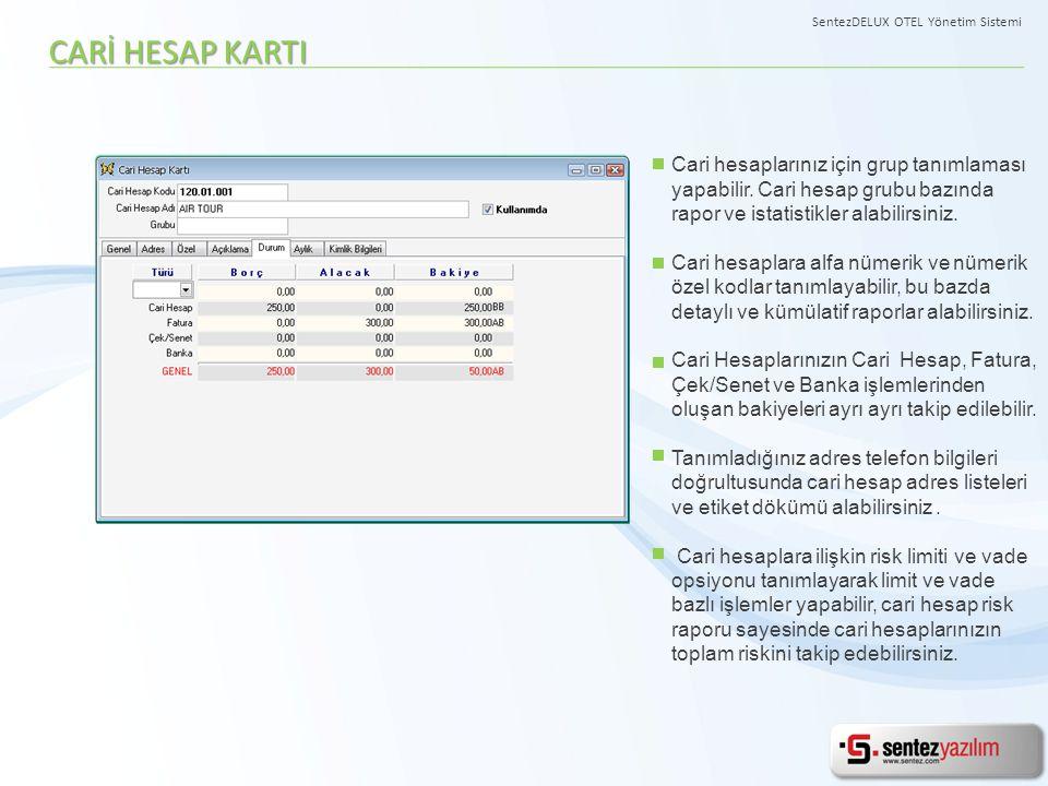 SentezDELUX OTEL Yönetim Sistemi
