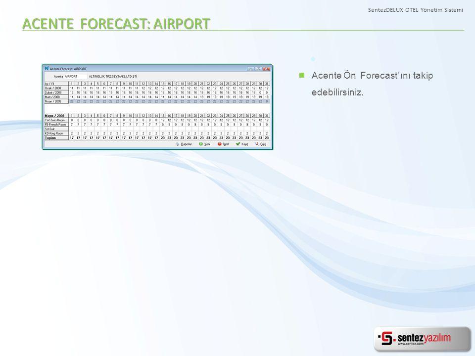 ACENTE FORECAST: AIRPORT