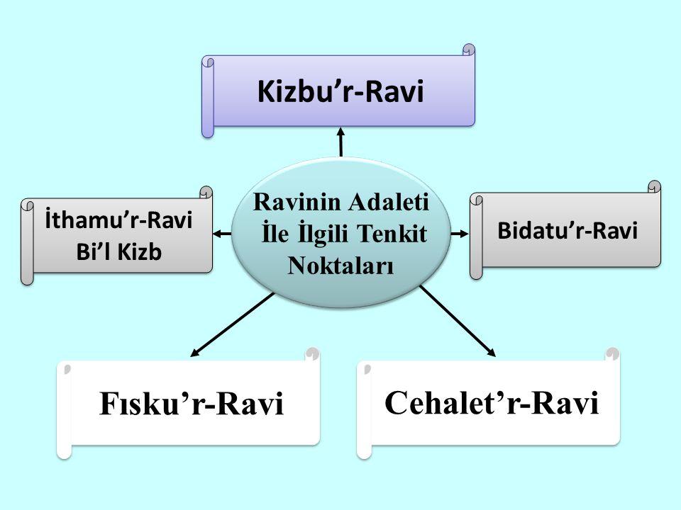 Kizbu'r-Ravi Fısku'r-Ravi Cehalet'r-Ravi Ravinin Adaleti