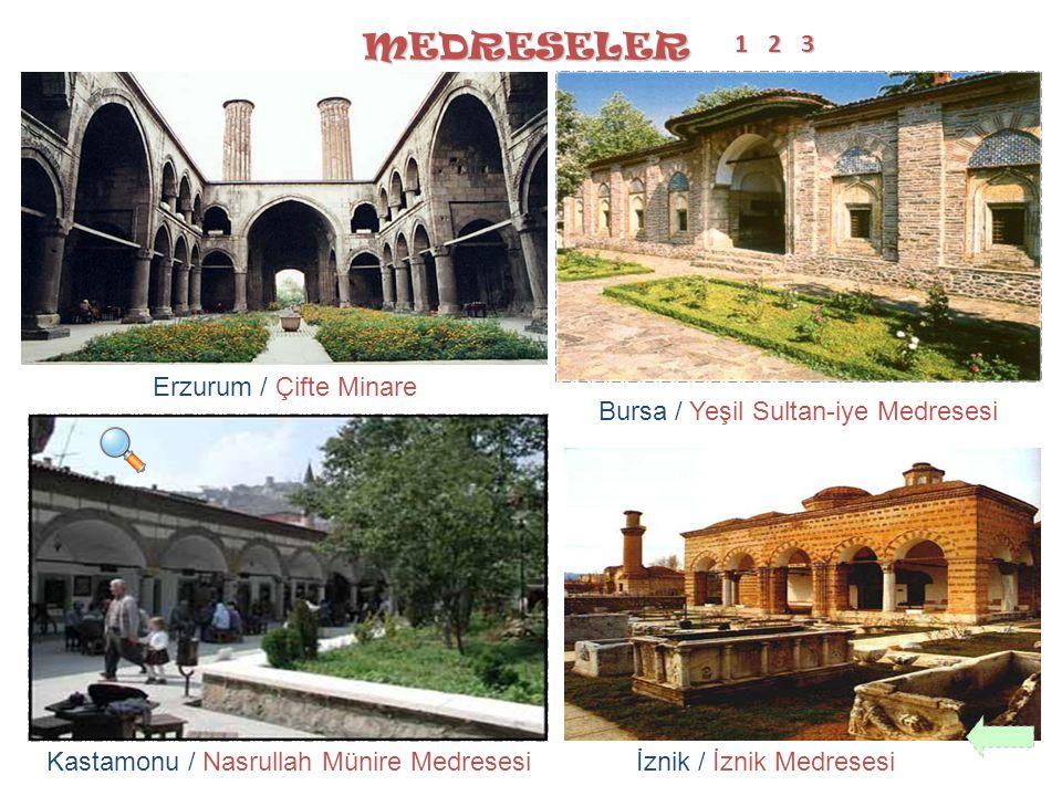 MEDRESELER 1 2 3 Erzurum / Çifte Minare