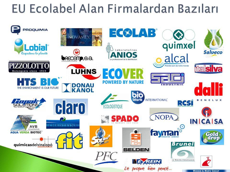 EU Ecolabel Alan Firmalardan Bazıları