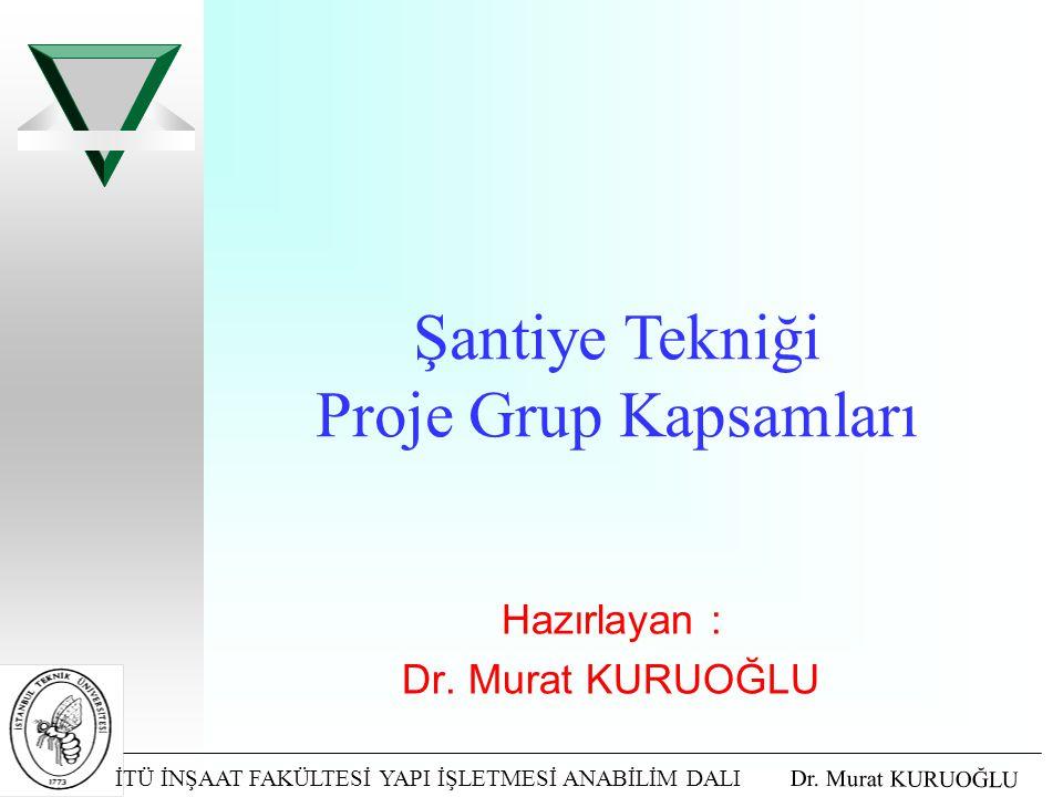 Hazırlayan : Dr. Murat KURUOĞLU