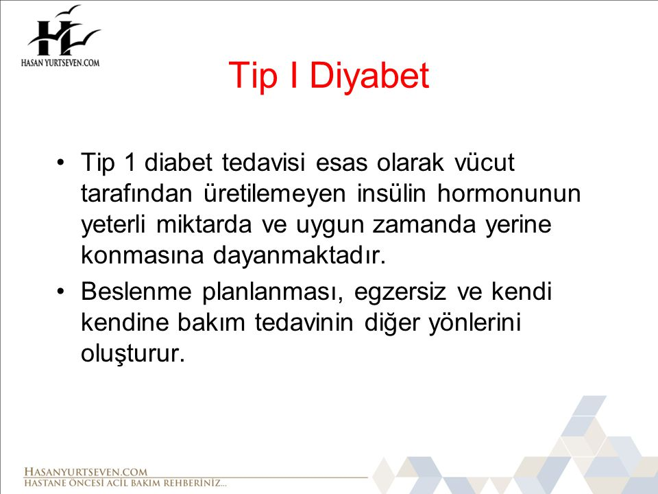 Tip I Diyabet
