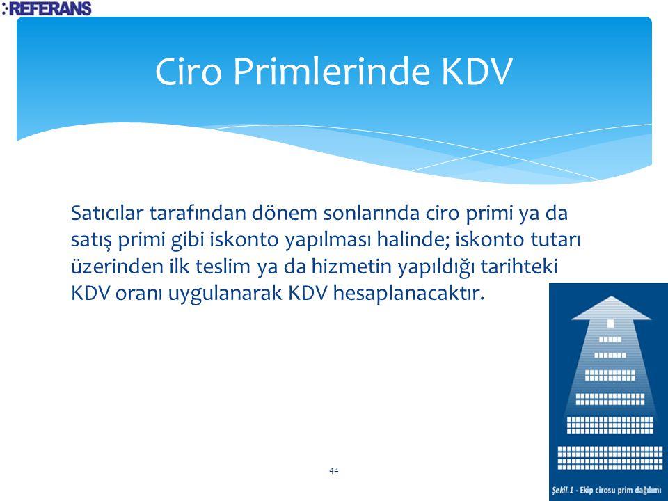 Ciro Primlerinde KDV