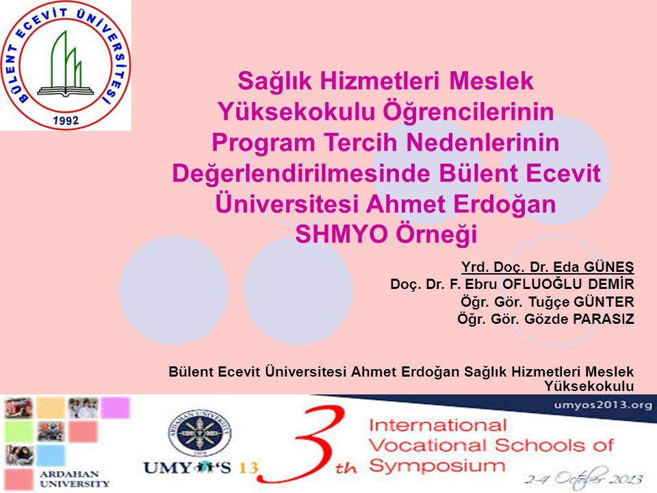 Sağlık Hizmetleri Meslek Yüksekokulu Öğrencilerinin Program Tercih Nedenlerinin Değerlendirilmesinde Bülent Ecevit Üniversitesi Ahmet Erdoğan SHMYO Örneği
