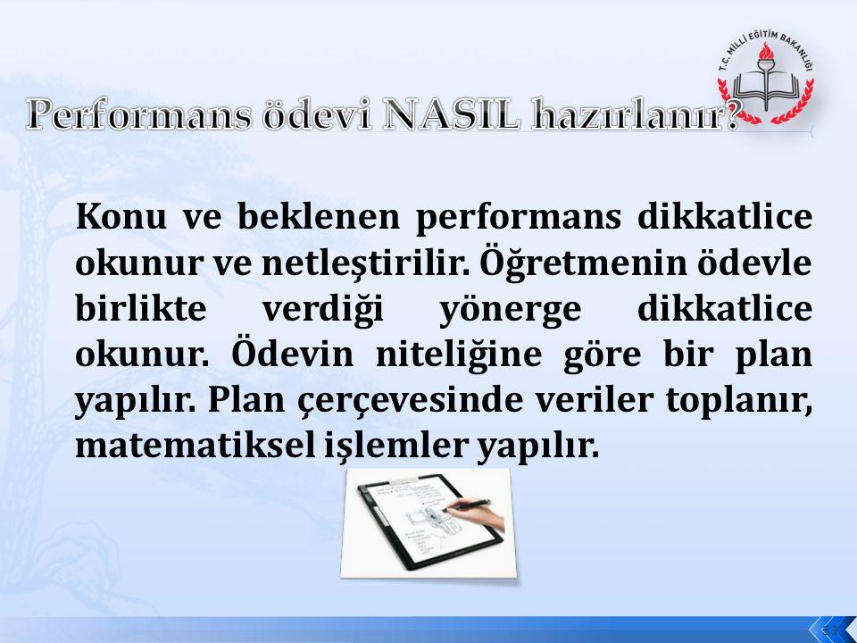 Performans ödevi NASIL hazırlanır