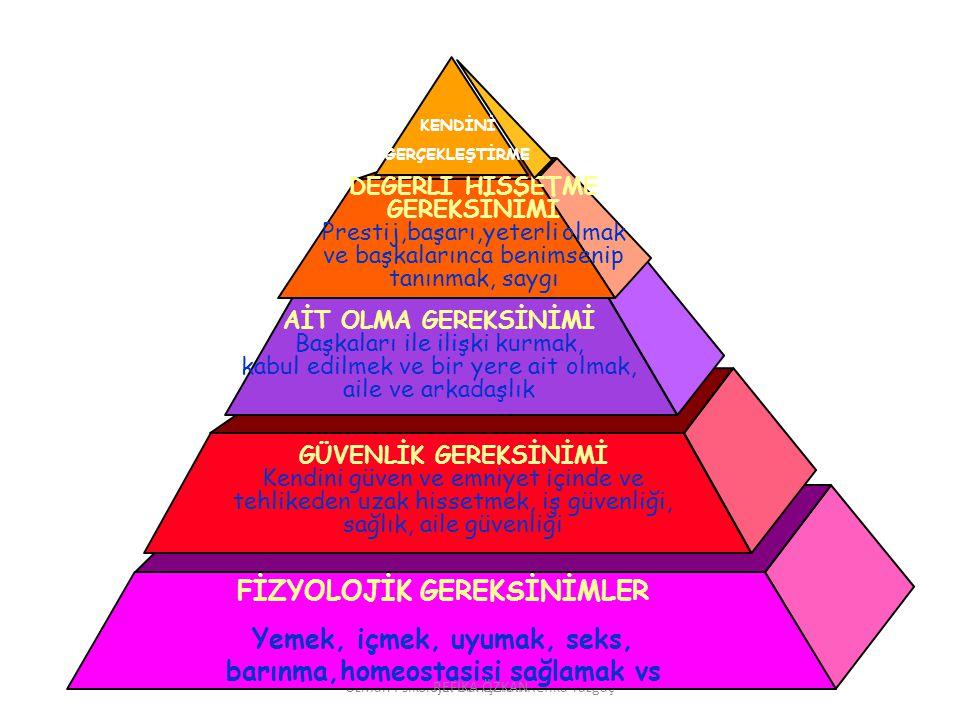 FİZYOLOJİK GEREKSİNİMLER