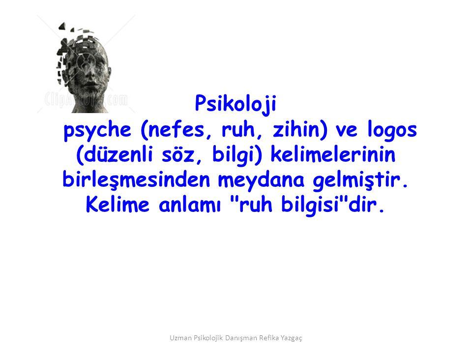 psyche (nefes, ruh, zihin) ve logos (düzenli söz, bilgi) kelimelerinin