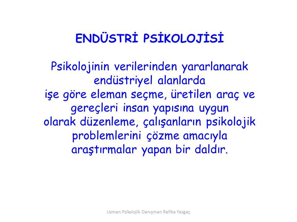 Psikolojinin verilerinden yararlanarak endüstriyel alanlarda