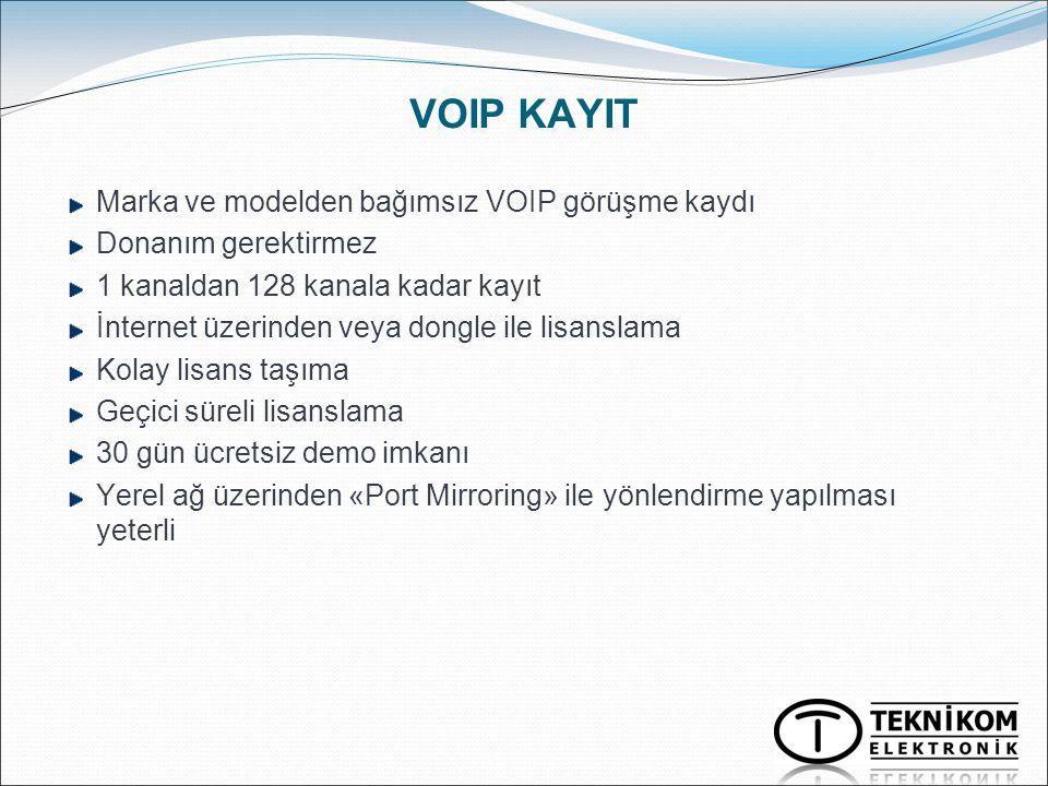 VOIP KAYIT Marka ve modelden bağımsız VOIP görüşme kaydı
