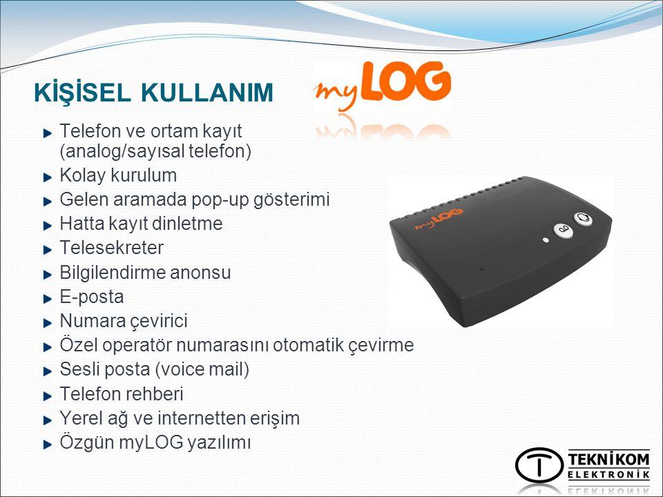 KİŞİSEL KULLANIM Telefon ve ortam kayıt (analog/sayısal telefon)