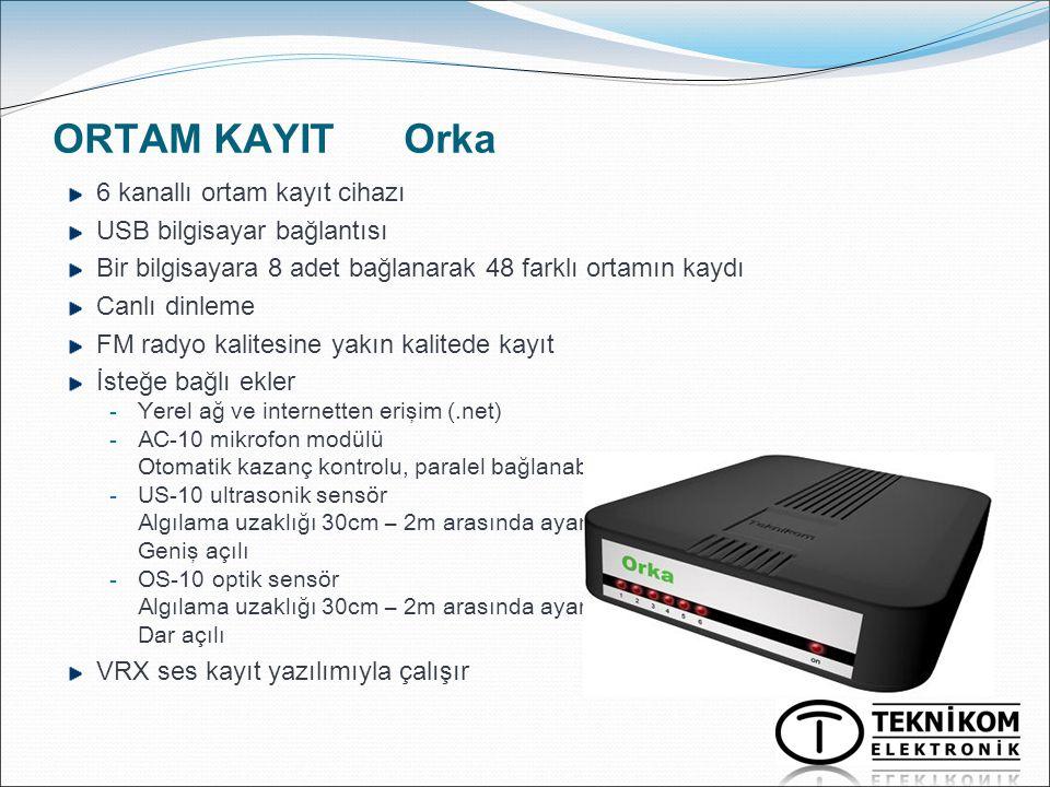 ORTAM KAYIT Orka 6 kanallı ortam kayıt cihazı