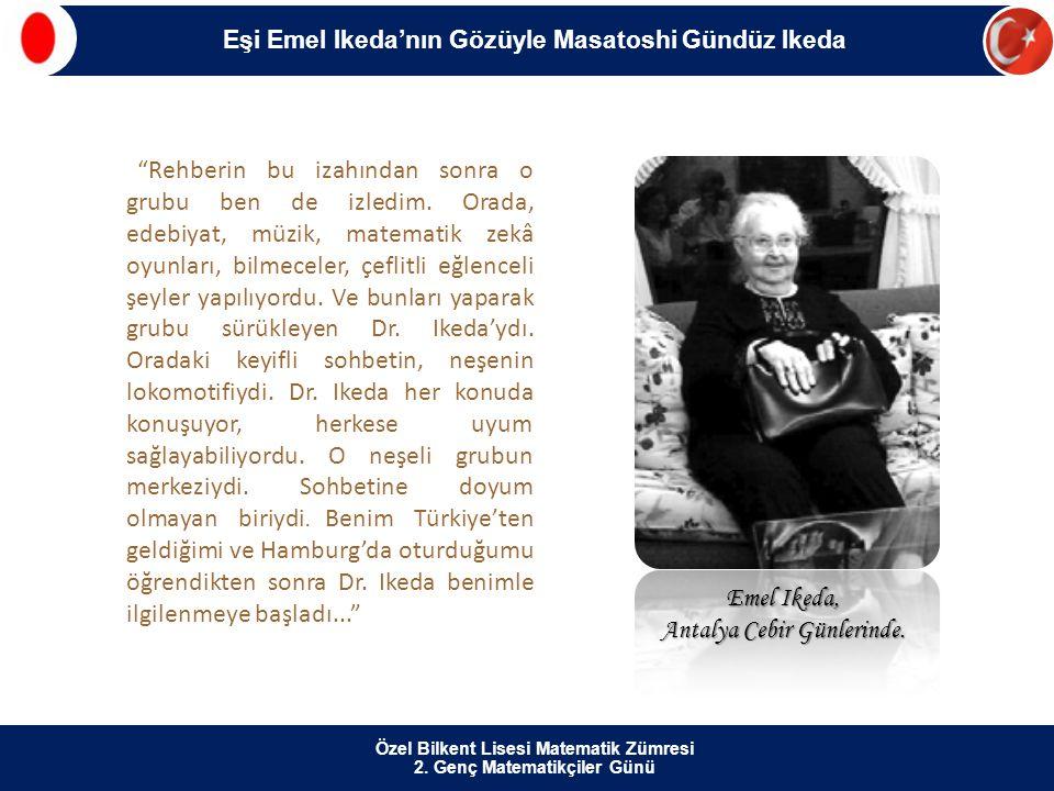 Emel Ikeda, Antalya Cebir Günlerinde.