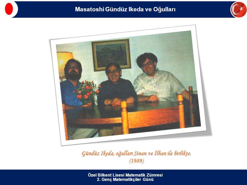 Gündüz Ikeda, oğulları Sinan ve İlhan ile birlikte. (1989)