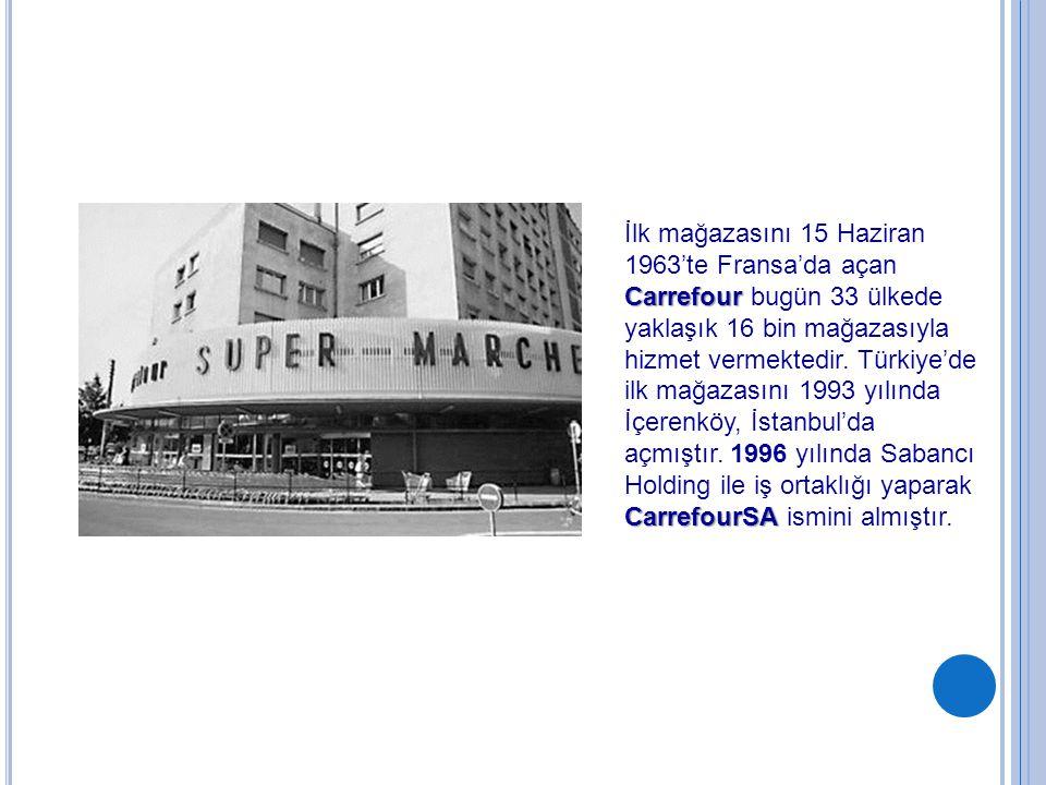 İlk mağazasını 15 Haziran 1963'te Fransa'da açan Carrefour bugün 33 ülkede yaklaşık 16 bin mağazasıyla hizmet vermektedir.