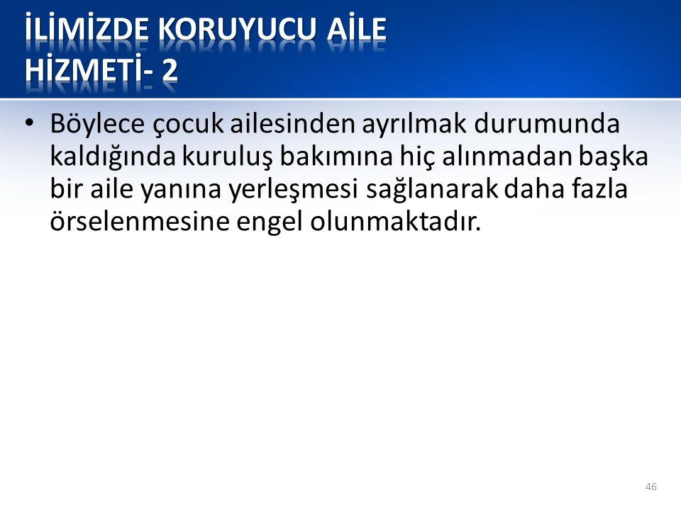 İLİMİZDE KORUYUCU AİLE HİZMETİ- 2