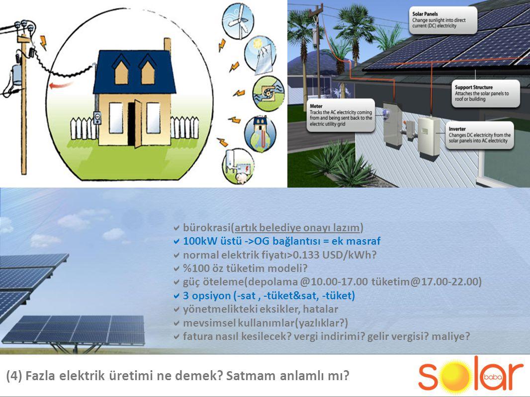 (4) Fazla elektrik üretimi ne demek Satmam anlamlı mı