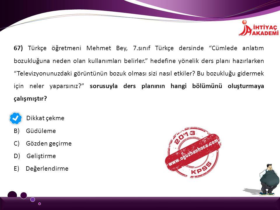 67) Türkçe öğretmeni Mehmet Bey, 7
