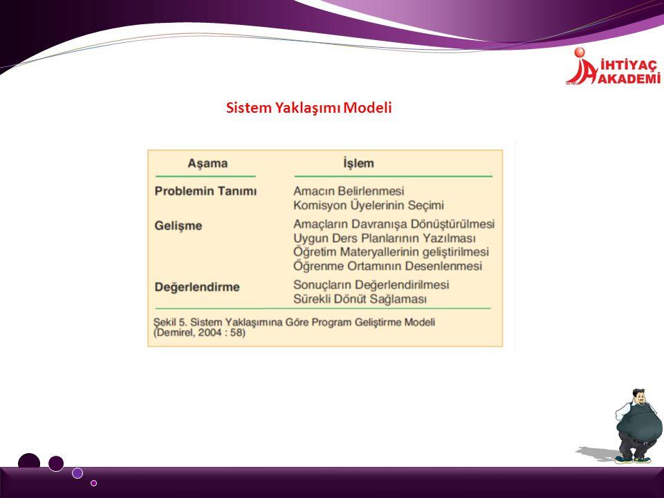 Sistem Yaklaşımı Modeli